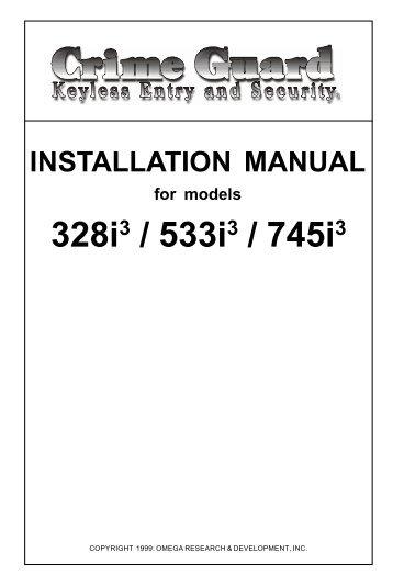 car alarm system installation manual