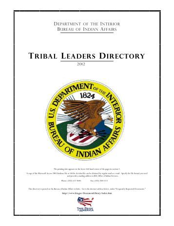Governors Office of Indian Affairs