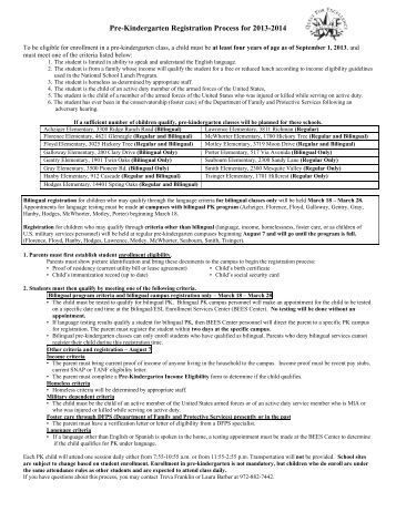 preschool registration process www mesquiteisd org magazines 701