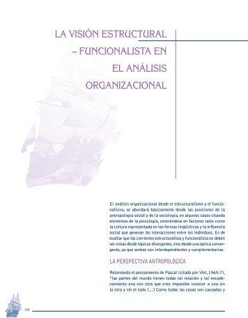 LA VIsIóN EsTRUCTURAL - Universidad Externado de Colombia