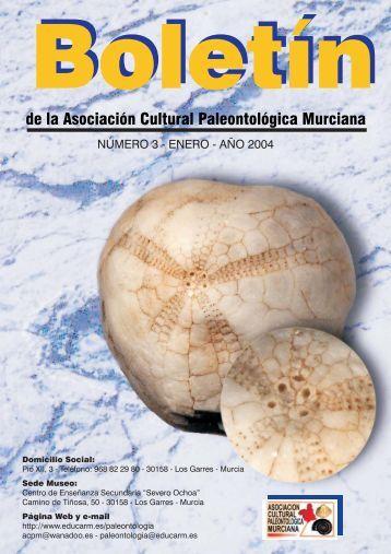 de la Asociación Cultural Paleontológica Murciana - Educarm