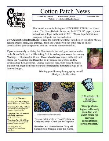 Quilt Guild Newsletter Ideas : 30 free Magazines from BAKERSFIELDQUILTGUILD.ORG