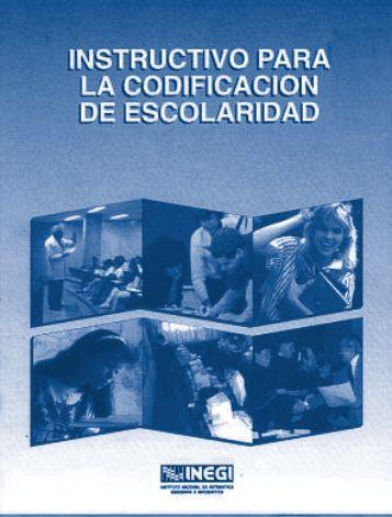 Instructivo para la Codificación de Escolaridad de la ... - Inegi