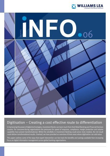 Digitisation – Creating a cost effective route to ... - Williams Lea