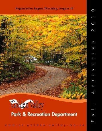Fall Activities 2010 - City of Golden Valley