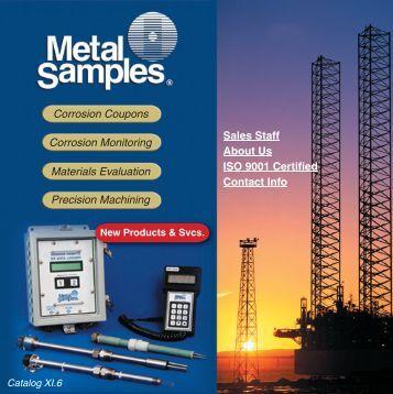 Metal Samples catalog