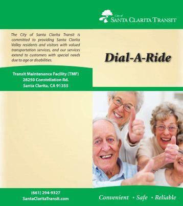 NEW Dial-A-Ride Brochure (*PDF) - City of Santa Clarita Transit