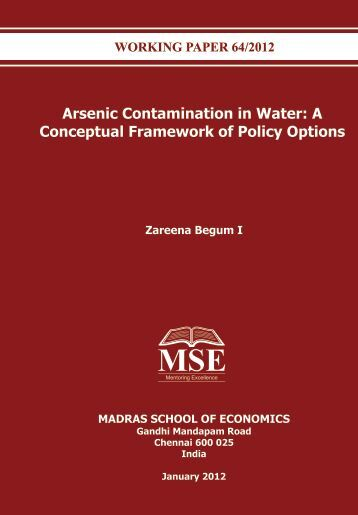 contamination of drinking water by arsenic in Dr ana navas-acien can't quite recall the moment when she began to worry about arsenic in drinking water and its potential role in heart disease.