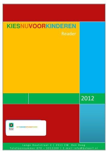 Reader 'Kies nu voor Kinderen' - Bernard van Leer Foundation