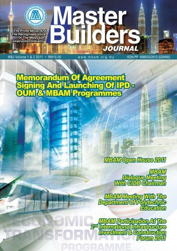 MBJ Volume Vol 1 & 2 2011 - Master Builders Association Malaysia