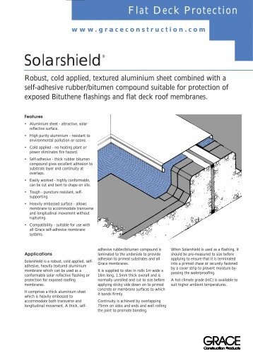 Solarshield (Page 1) - W.R. Grace - Grace Construction Products