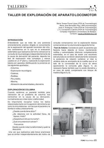 Exploración de aparato locomotor en niños - Sociedad de Pediatría ...