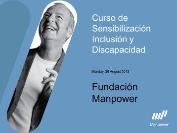 Curso de Sensibilización Fundación Manpower 2013
