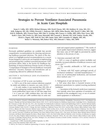 interventions for ventilator associated pneumonia Early detection of ventilator-associated  for raman spectroscopy-based early detection of ventilator-associated pneumonia  arms and interventions.