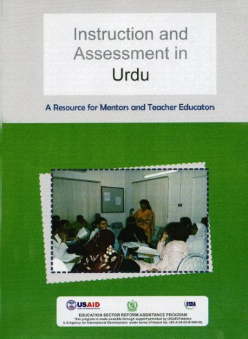 Instruction and Assessment in Urdu