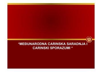 28.medunarodna carinska saradnja i carinski sporazumi bez slika