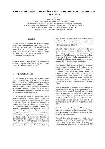 correspondencia de imágenes 3d asistida por contornos activos - CEA