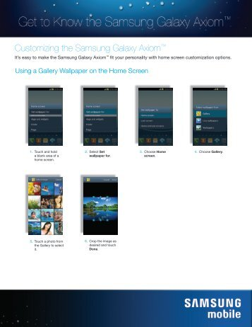 Customizing Device - US Cellular