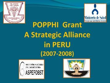 Midwifery education and AMTSL in Peru - POPPHI