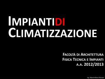 TAeD - Impianti di Climatizzazione - Lezione del 30 aprile 2013