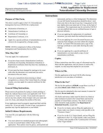 Uscis Form N 600 Instructions