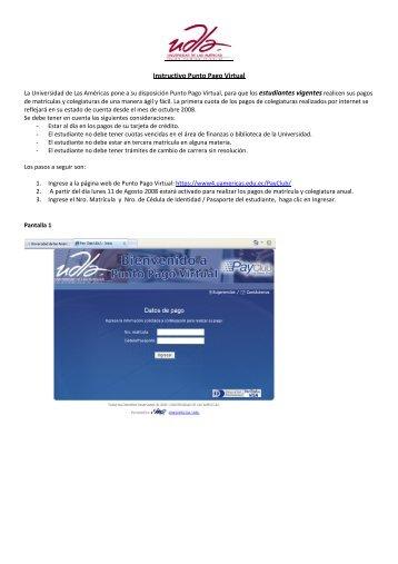 Instructivo Punto Pago Virtual