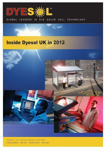Download booklet here - Inside Dyesol UK in 2012
