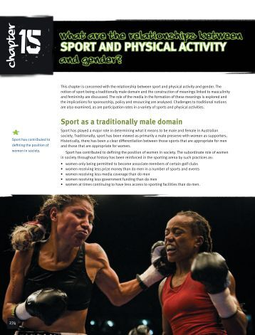 sport and physical activity