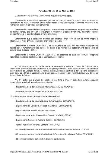 Página 1 de 2 Portaria n 12/09/2011 http://dtr2001.saude.gov.br/sas ...