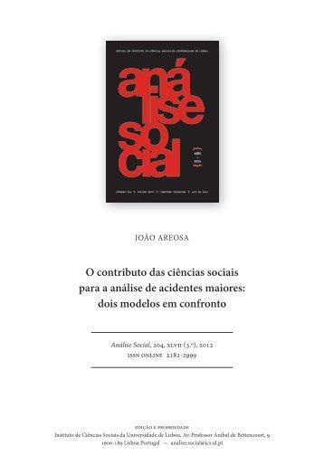 O contributo das ciências sociais para a análise de acidentes maiores
