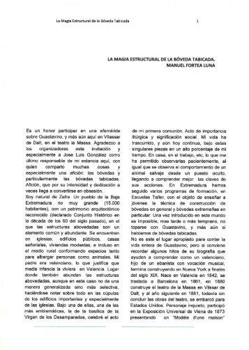 LA MAGIA ESTRUCTURAL DE LA BÓVEDA TABICADA. - Vault Zafra
