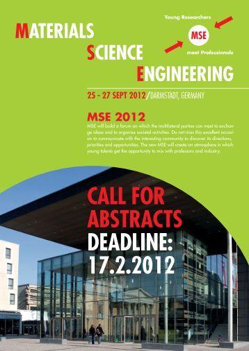 Materials Science Engineering MSE - Spp1473.kit.edu