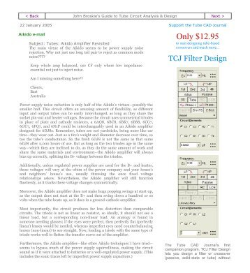Only $12.95 - Tube CAD Journal