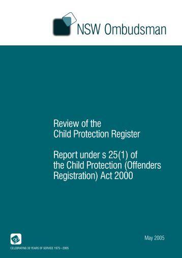 child protection legislation nsw pdf
