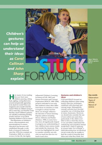 Stuck for words - The Association for Science Education