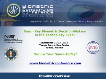 Biometric Consortium Conference and Technology Expo - J. Spargo ...