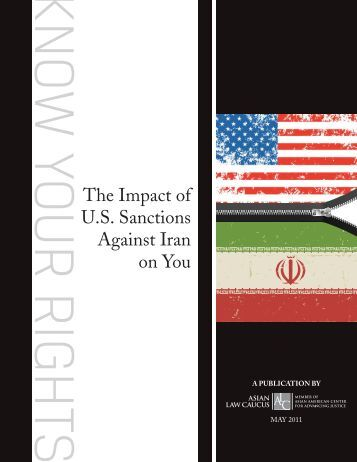 impact of us sanctions over iran Cnn national security analyst samantha vinograd discusses how iran could  mitigate the impact of the us sanctions, which go back into effect.