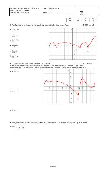 MHR Calculus and Vectors 12 Solutions 462 Chapter 4 Review