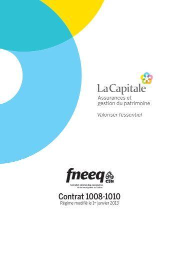 Contrat 1008-1010 - La Capitale assurances générales