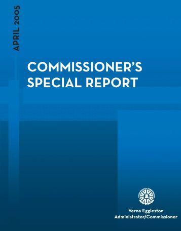 Commissioner's Special Report (PDF), April 2005 - NYC.gov