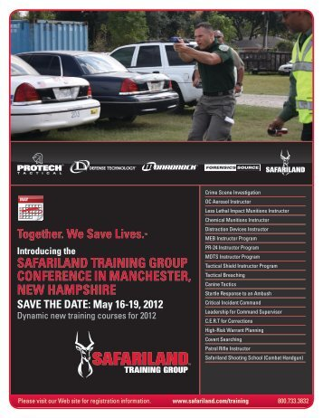 safariland training group conference in manchester, new hampshire