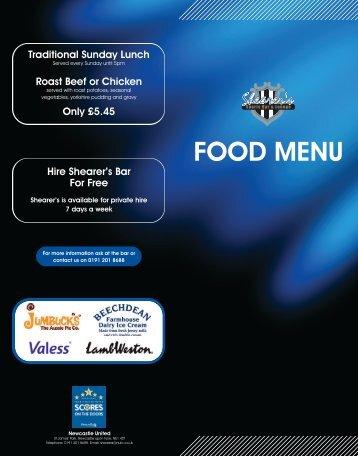 Roast Beef Or Chicken - Newcastle United