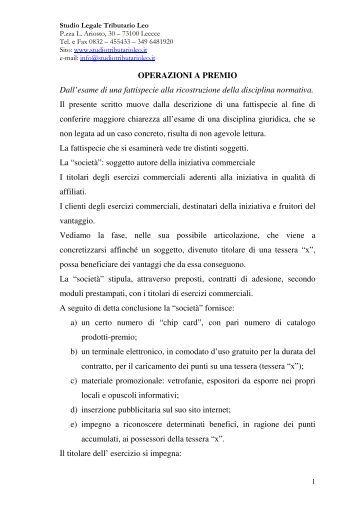 LEGGI L'ARTICOLO COMPLETO - Studio Tributario Leo