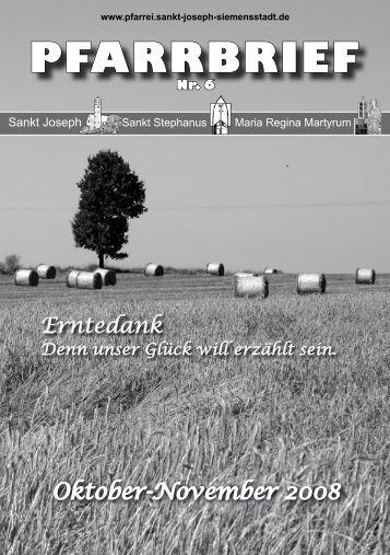 Gemeindebrief Oktober / November 2008 - Katholische Pfarrei St ...