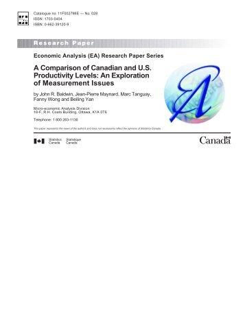 Economic Analysis (EA) Research Paper Series