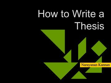 Write a thesis abstract