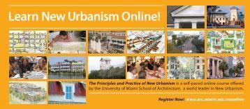 Learn New Urbanism Online! - University of Miami School of ...