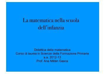 La matematica nella scuola dell'infanzia