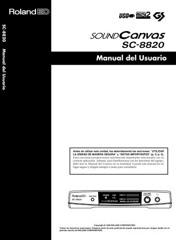 SC-8820 Manual del Usuario - Casaveerkamp.net