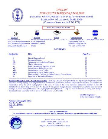 Edition 05 of 2008. - Indian Naval Hydrographic Department